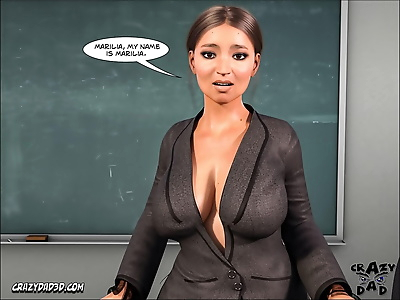 CrazyDad3D- Spank 2- Teacher..