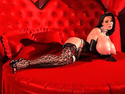 Sexy 3d brunette in slutty..