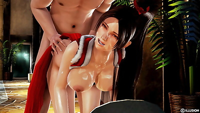 Mai Shiranui after losing a..
