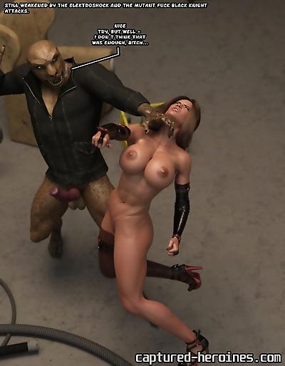 Captured Heroines Black..