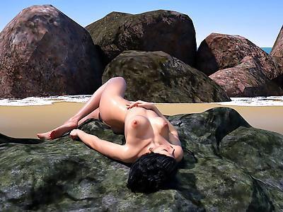 Hibbli3D- Beach Day 7