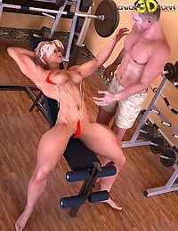 Boyfriend and girlfriend trainers get nasty in the gym - part 14