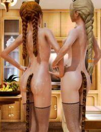 Elsa and Anna Cat Girls - part 4