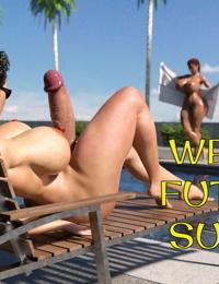Cjflo- Wet Hot Futanari Summer