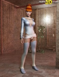 Beautiful redhead molested by horny space alien - part 14
