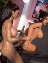 3DSimon My Boss DickGirl 2: Kathy & Diane - part 5