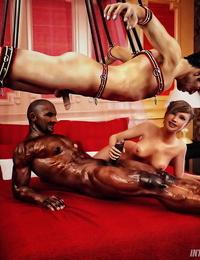 InterracialSex3D Cuckold Husband Initiation