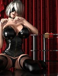 V1z3t4 NieR Automata A2 2B sex femdom play NieR: Automata