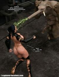 Captured Heroines Moonbird vs Trunker