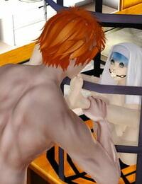 静灵涏洞爷湖 茵蒂克丝被关在铁笼里强奸足交,舔她骚臭脚底Toaru Majutsu no Index