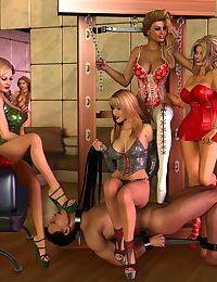 Female Domination Ballbusting & Chastity Cock Art - part 2